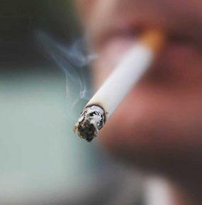 たばこの煙、吸い殻に注意