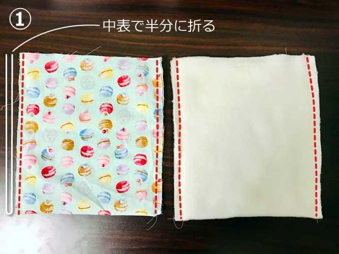 手作り寝袋の作り方の画像