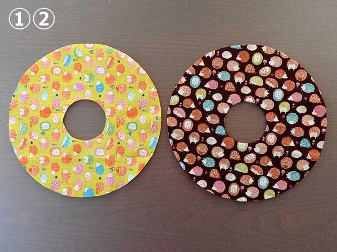 手作りドーナツクッションの作り方の画像