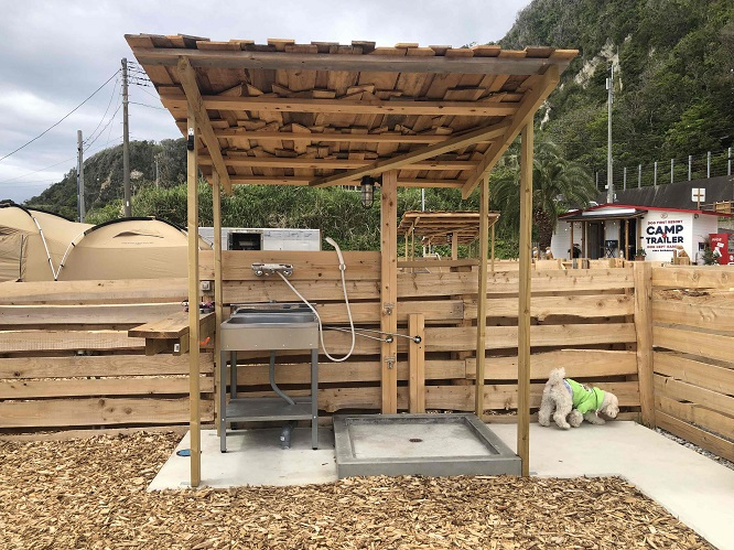 THE DOG DEPT GARDEN RESORT-安房白浜-の洗い場